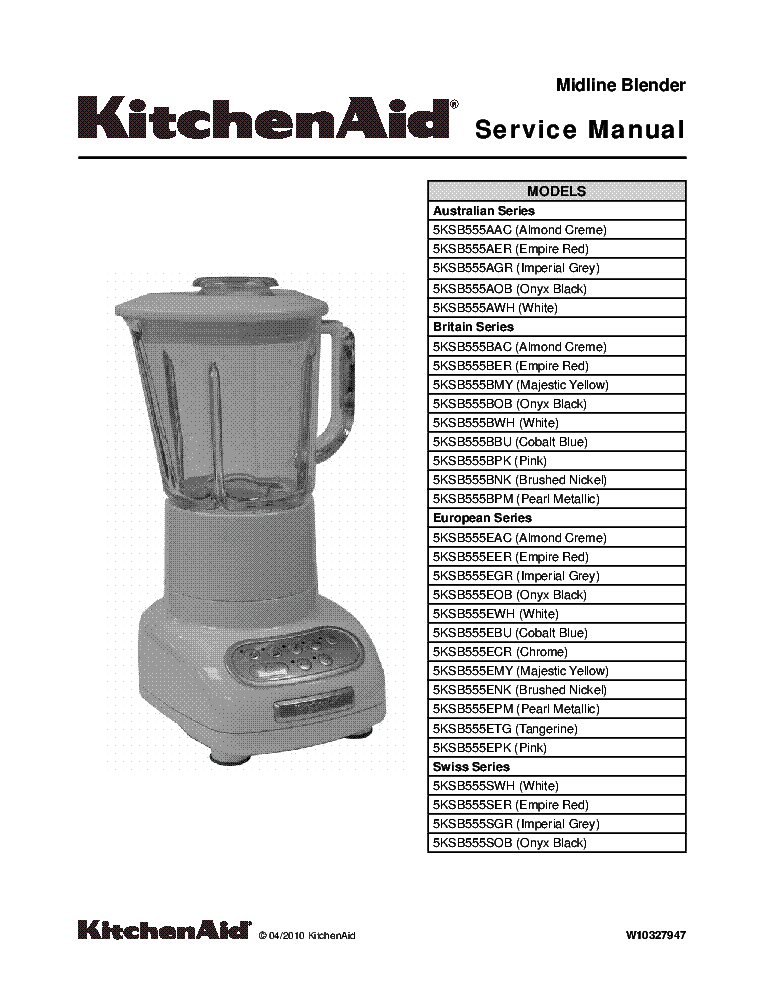 Kitchenaid Stand Mixer Repair Manual Pdf – Wow Blog