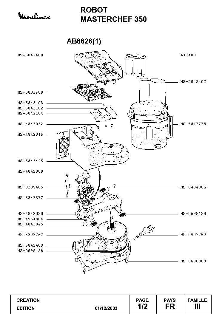 мулинекс мастер шеф750 электро схема