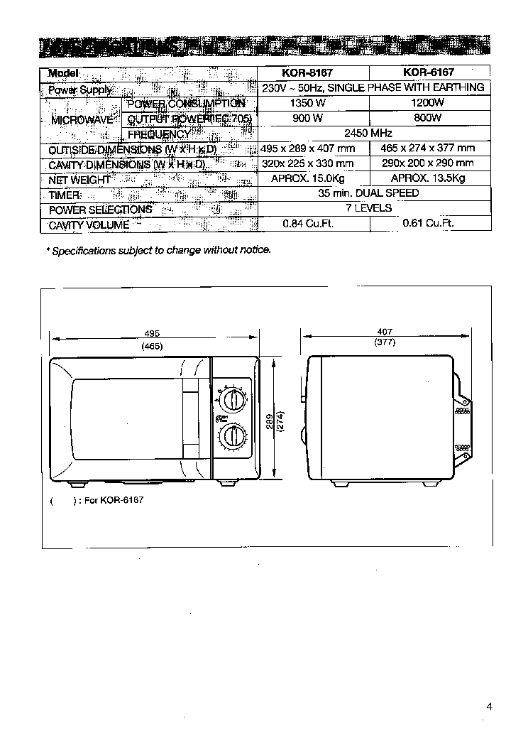 Daewoo Kor 8167 Service Manual Download Schematics