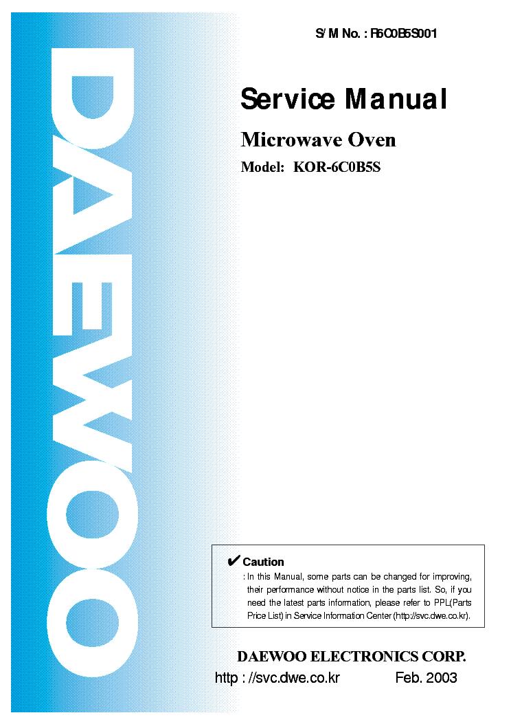 DAEWOO KOR-131H DESCARGAR CONTROLADOR