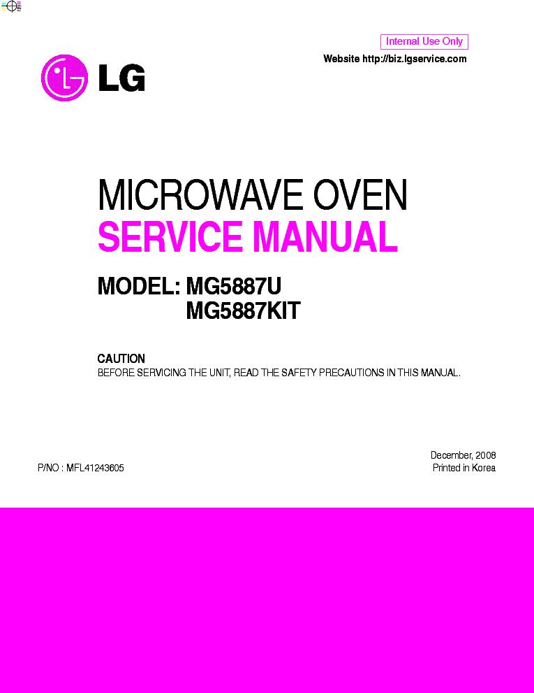 lg mg5887u kit service manual download schematics eeprom repair rh elektrotanya com LG Dryer Parts lg microwave service manual pdf