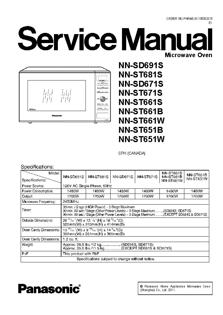 Panasonic Nn Sd691 St681s Sd671s St671s