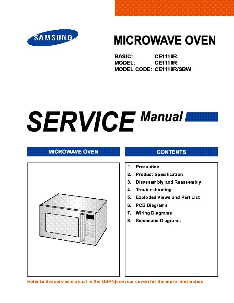 samsung smh9187st sm service manual download, schematics, eeprom samsung microwave repair samsung ce1110r microwave oven supplement