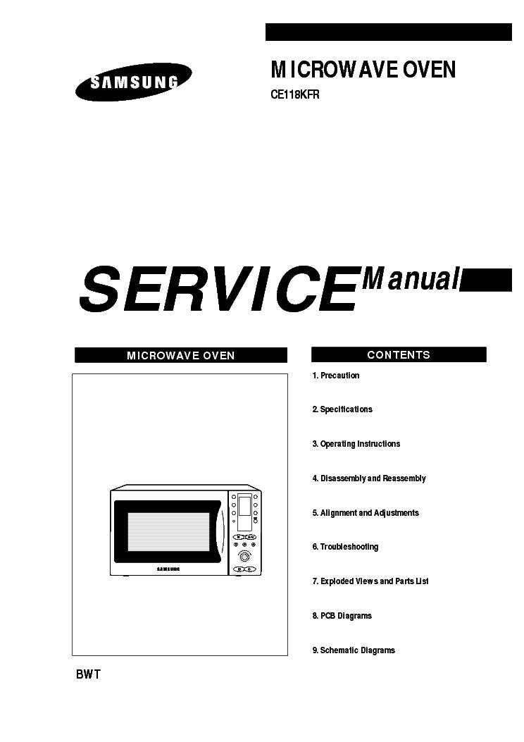 Samsung ce118kfr инструкция скачать бесплатно