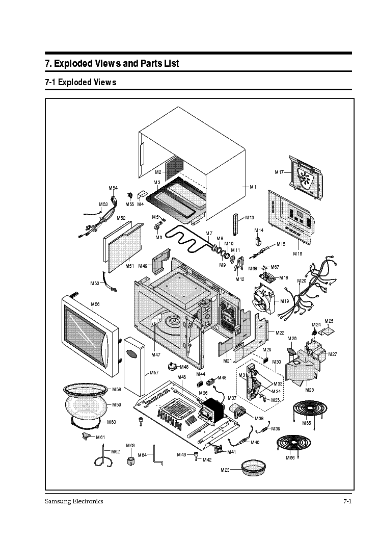 SAMSUNG CK-95 service manual (1st page)
