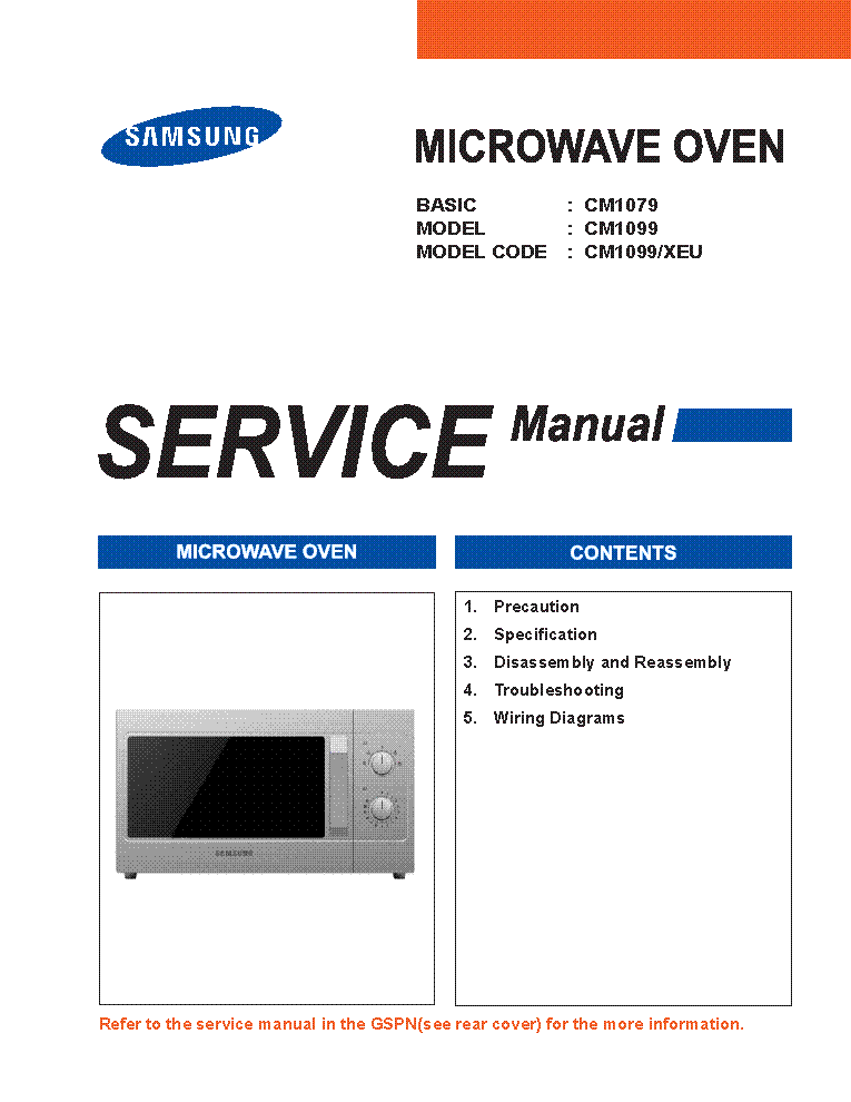 samsung cm1079 cm1099 microwave oven service manual download rh elektrotanya com Samsung Over Range Microwave Parts Samsung Microwave Handle Broken
