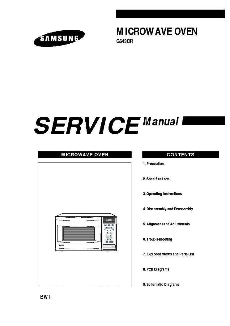 SAMSUNG G643CR service manual (1st page)