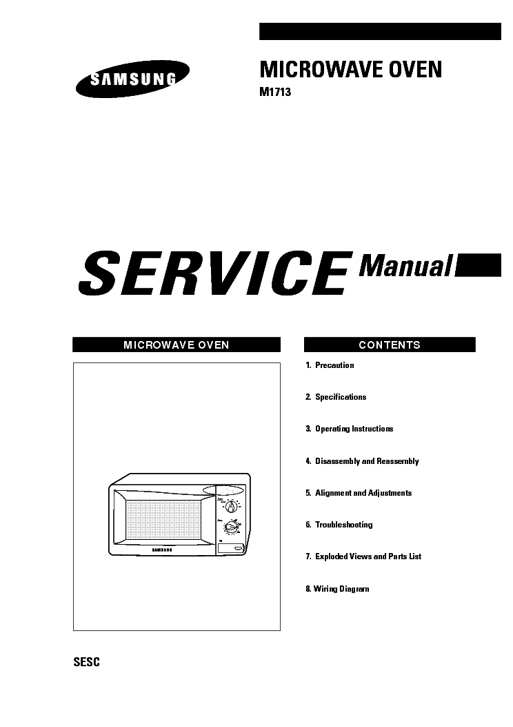 Images Of Samsung Microwave Repair Manual
