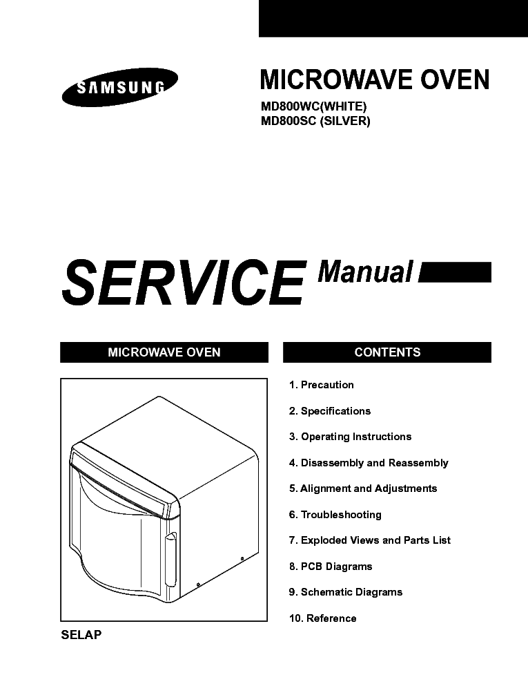 samsung md800wc sc service manual free download  schematics  eeprom  repair info for electronics