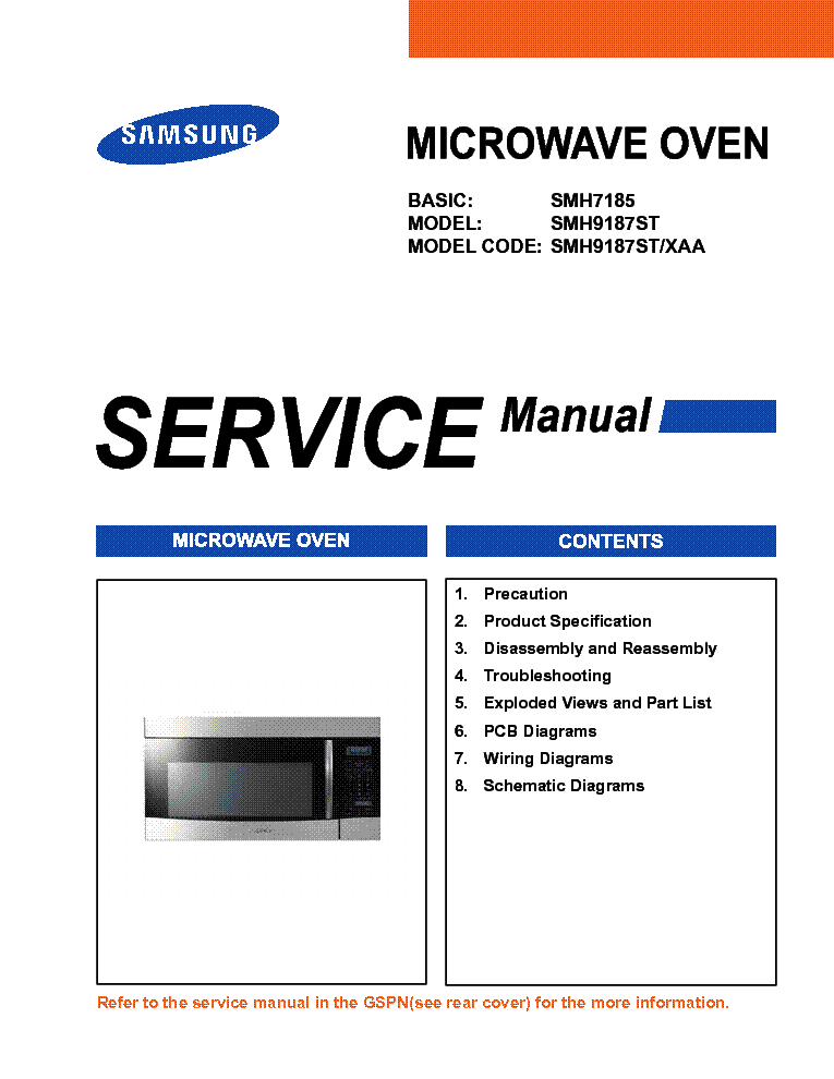 Samsung Smh9187st Sm Service Manual 1st Page