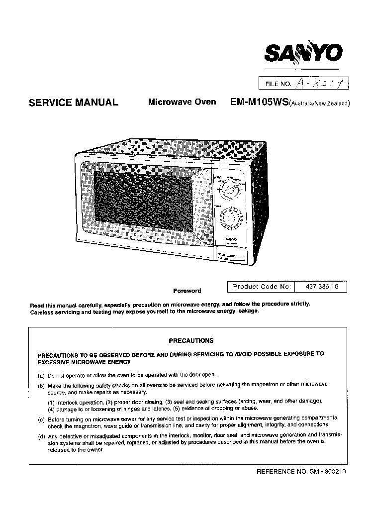 Sanyo 24KH12W Operating Instructions Manual Download