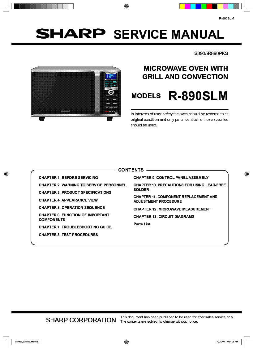 Sharp R 220c Service Manual Download Schematics Eeprom Repair Microwave Drawer Diagram And Parts List For Microwaveparts