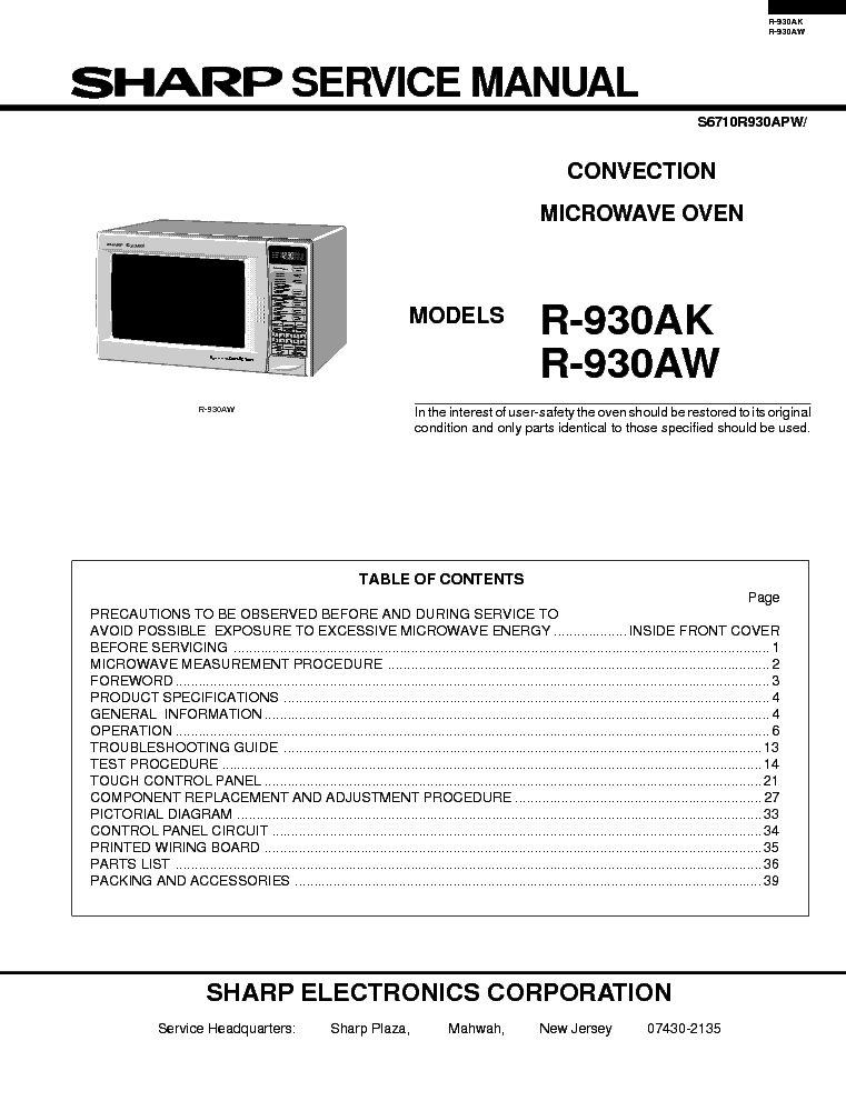 Service Manual Copy Sharp 5520