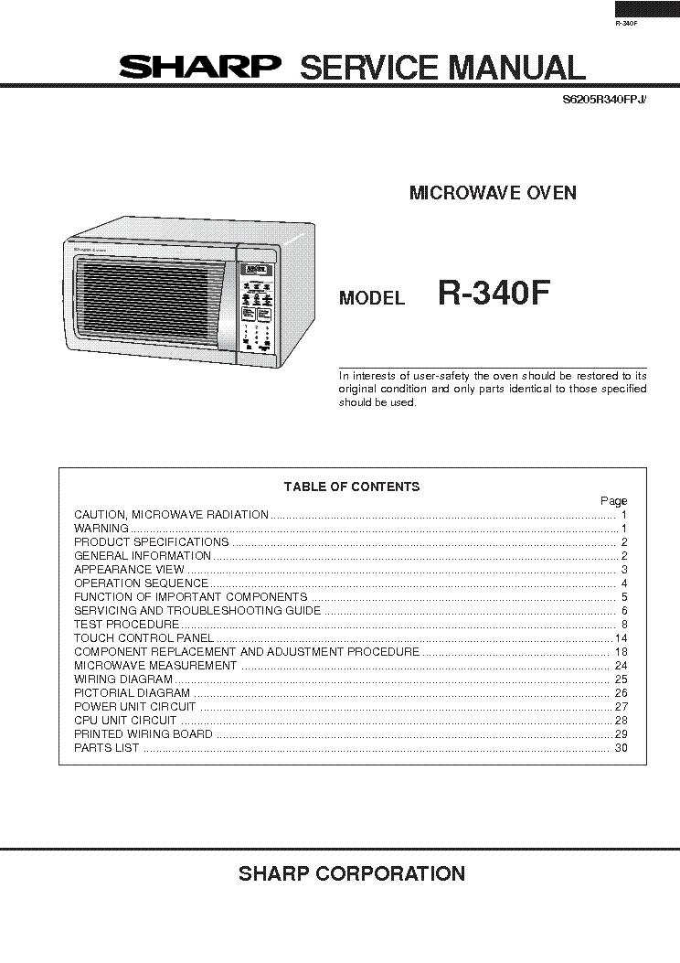 microwave repair free sharp microwave repair manual rh microwaverepairshibanae blogspot com Sharp Microwave Thermal Fuse Sharp Microwave Timer