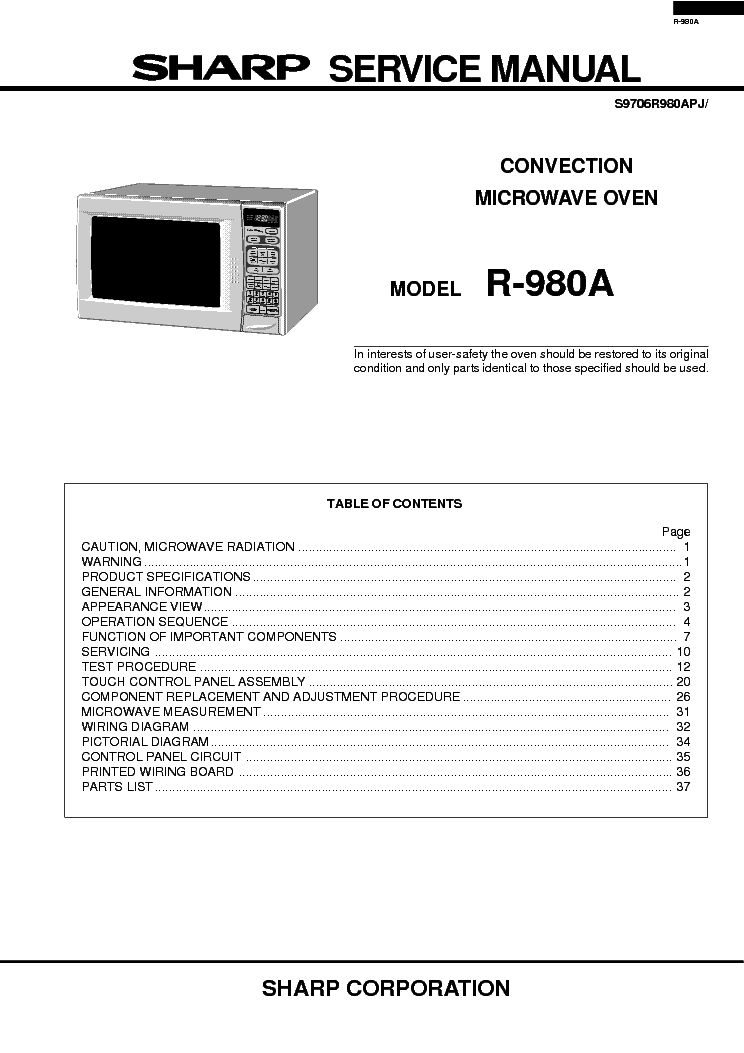 sharp r980a service manual download schematics eeprom repair info rh elektrotanya com sharp tv repair manual sharp photocopier repair manuals