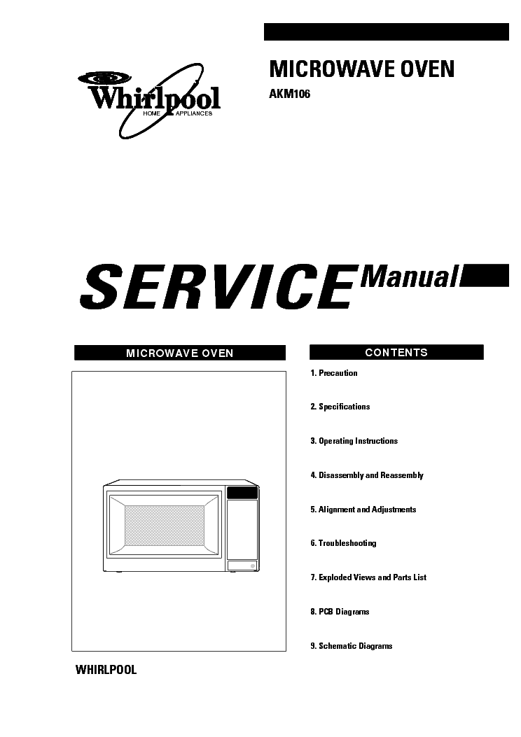 Whirlpool amb362 service manual download schematics eeprom whirlpool akm106 sm solutioingenieria Image collections