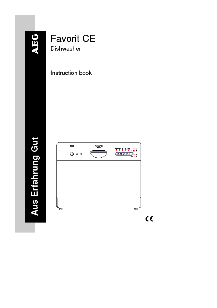 aeg favorit proclean dishwasher manual