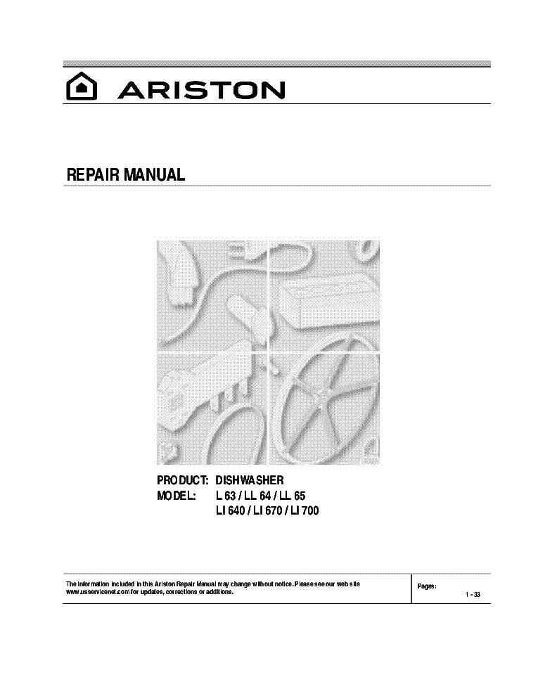 ariston dishwasher service manual enthusiast wiring diagrams u2022 rh rasalibre co