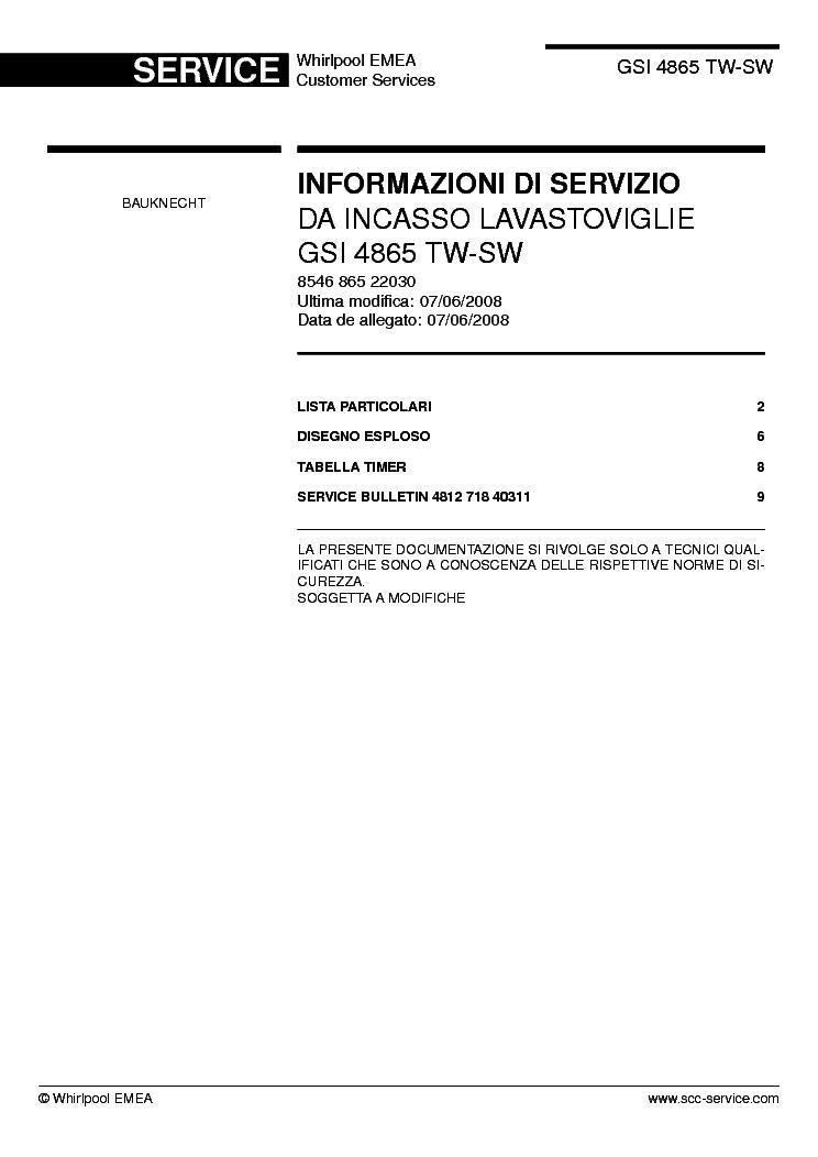 bauknecht gsi 4865 tw sw service manual download schematics eeprom repair info for. Black Bedroom Furniture Sets. Home Design Ideas