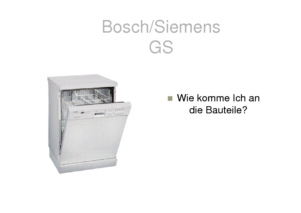 bosch siemens spuelmaschine technik training service manual download rh elektrotanya com bosch appliance owners manuals bosch dryer maintenance manual