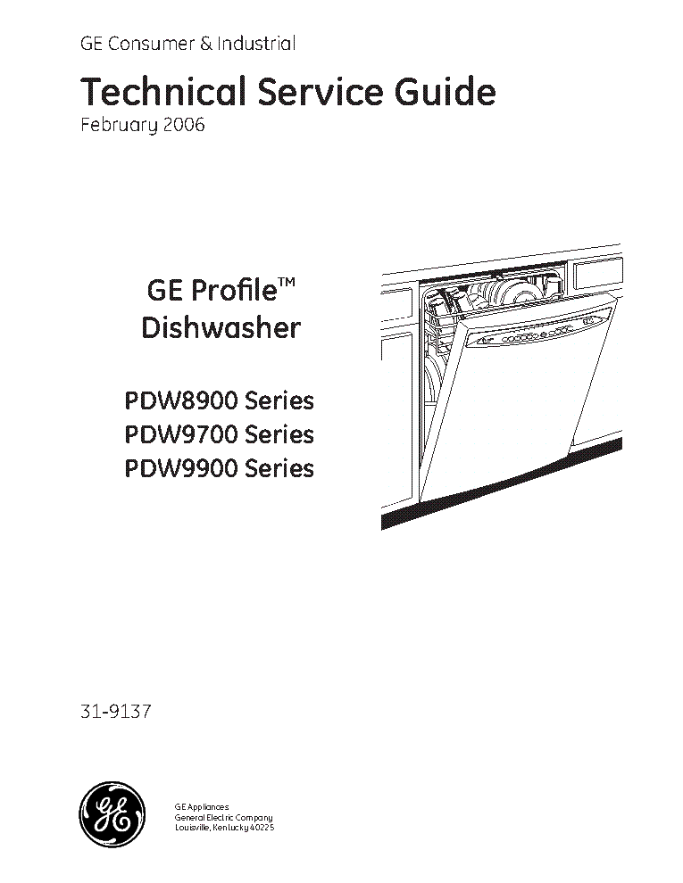 Ge Profile Pdw8900 Pdw9700 Pdw9900 Service Manual Download