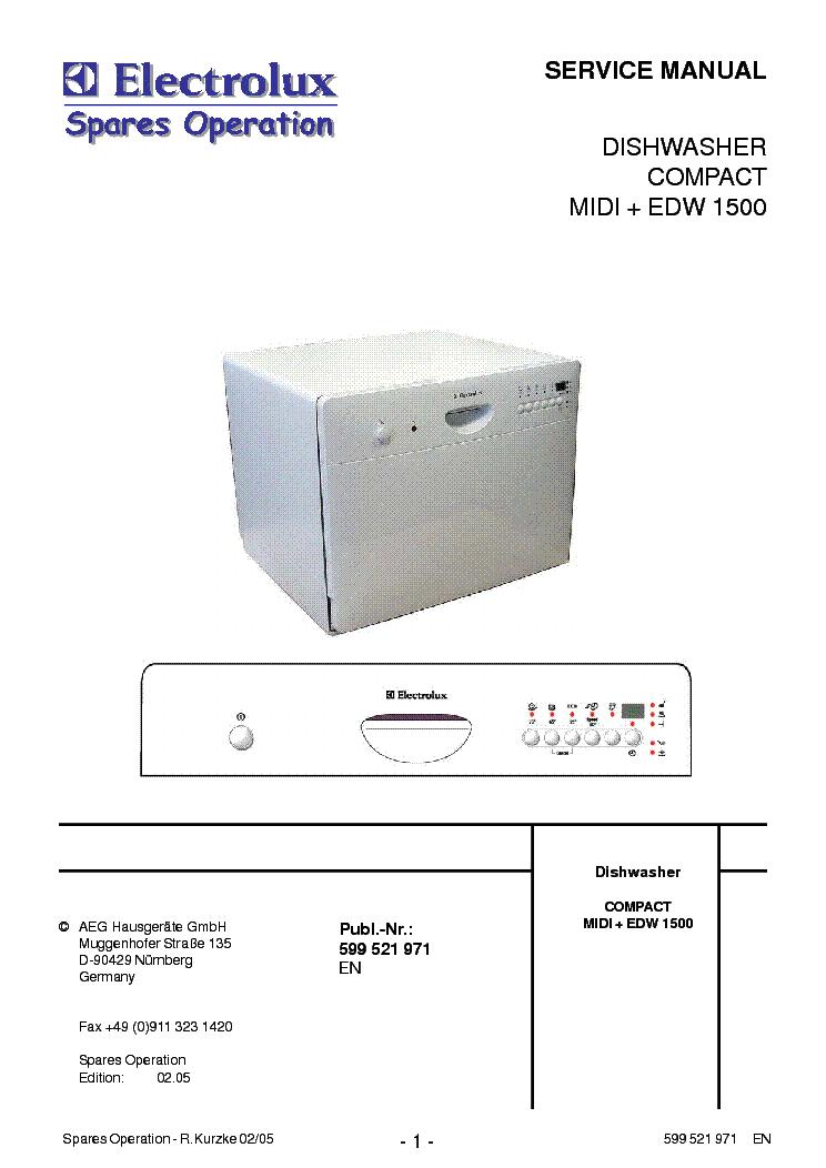 Electrolux Aeg Edw1500 Service Manual Download Schematics Eeprom