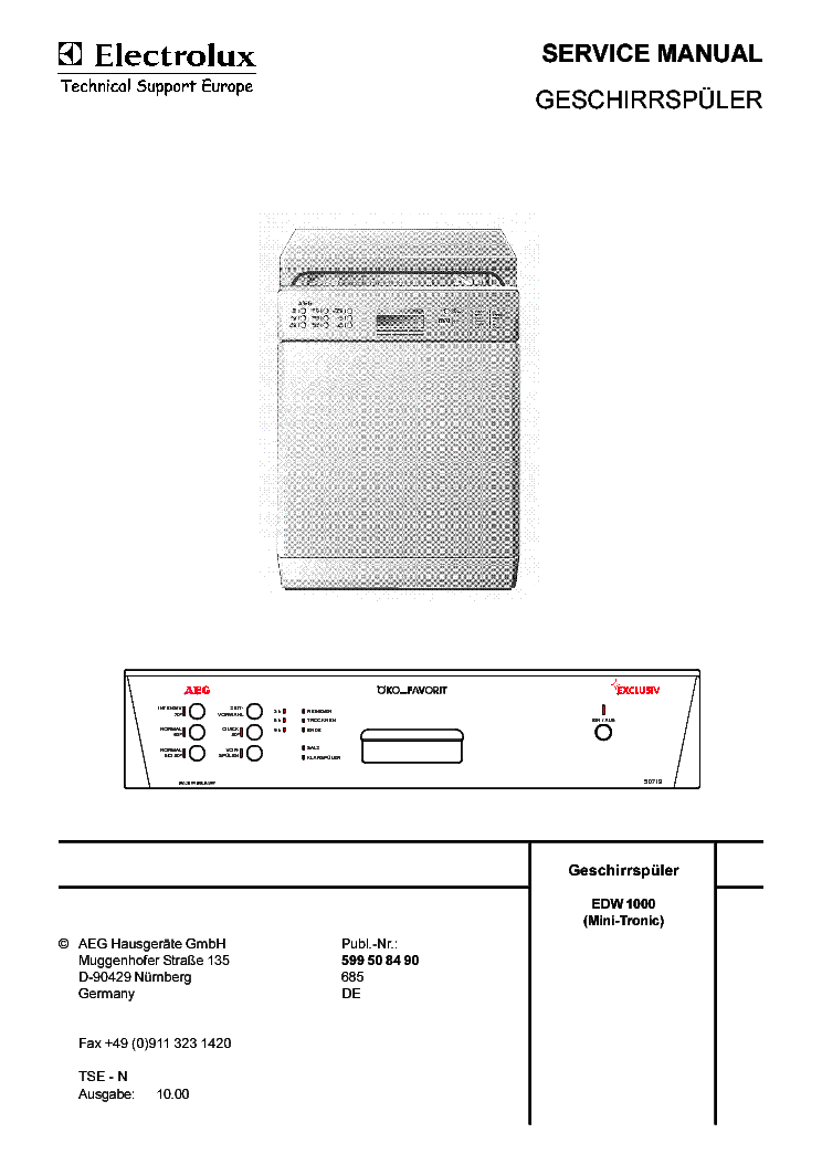 electrolux ei23cs55gs1 manual
