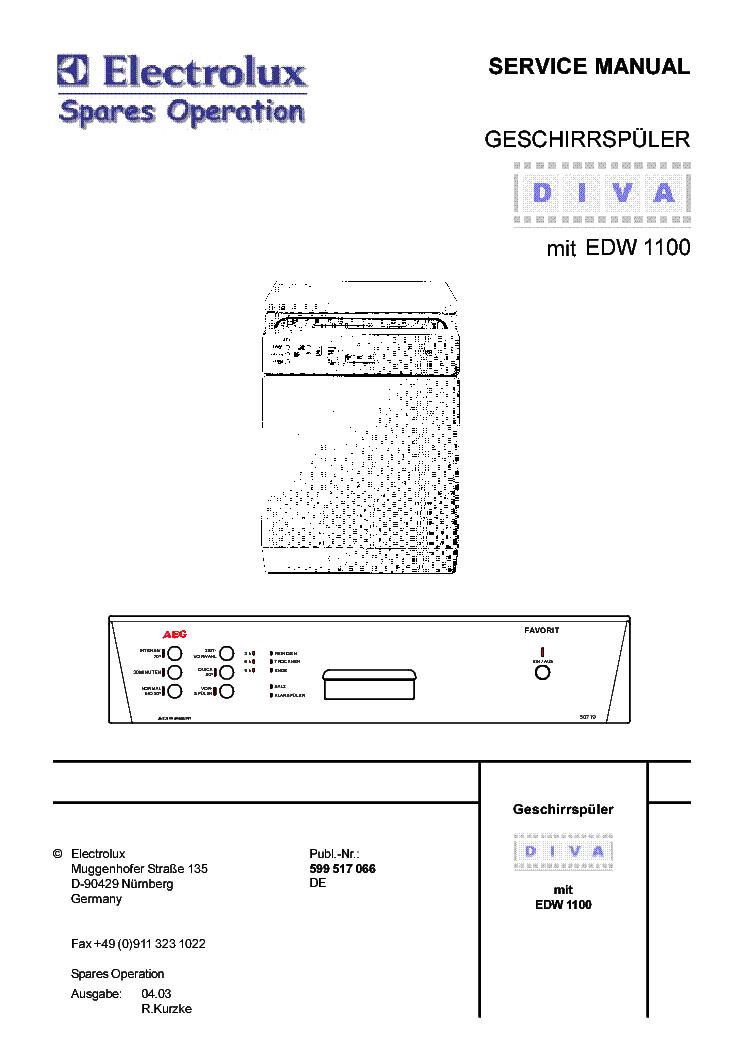 Monitor Service Manual Aeg Lavamat 1030