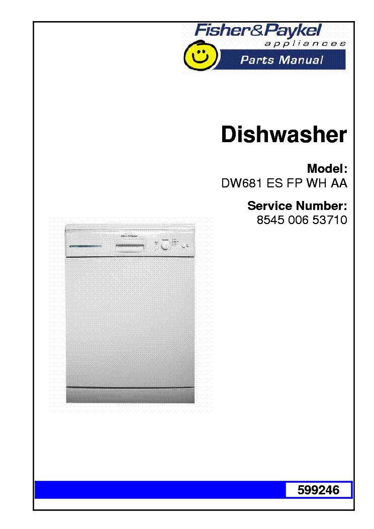 fisher paykel dw681es 53710 parts list service manual download rh elektrotanya com fisher paykel dishwasher dd603 user guide fisher paykel dishwasher user manual