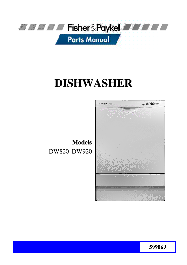 fisher paykel dw820 dw920 parts list service manual download rh elektrotanya com Fisher and Paykel Fridge Fisher & Paykel Dishwasher Problems