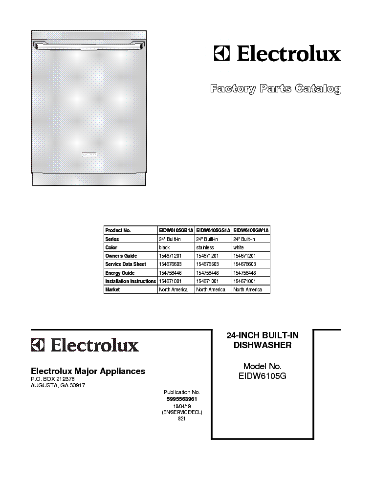 frigidaire_eidw6105g.pdf_1 frigidaire frs26zrg service manual download, schematics, eeprom  at edmiracle.co