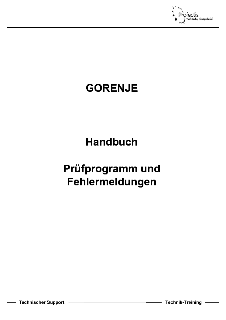 Gorenje Gvi682 692 640 Fehlermeldung Service Manual Download