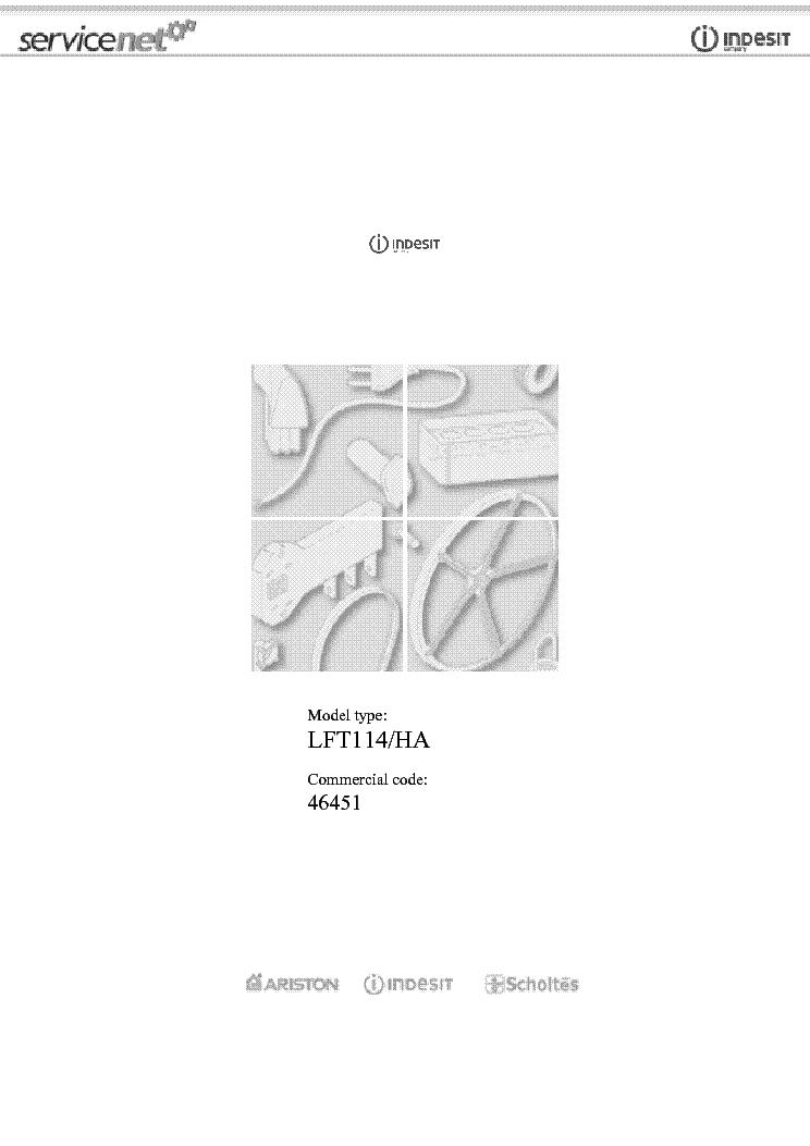 INDESIT HOTPOINT ARISTON LFT114-HA Service Manual download ...