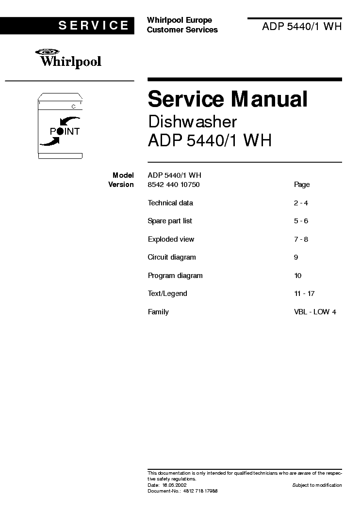 Whirlpool point adp 5440 1 wh service manual download schematics whirlpool point adp 5440 1 wh service manual 1st page solutioingenieria Gallery