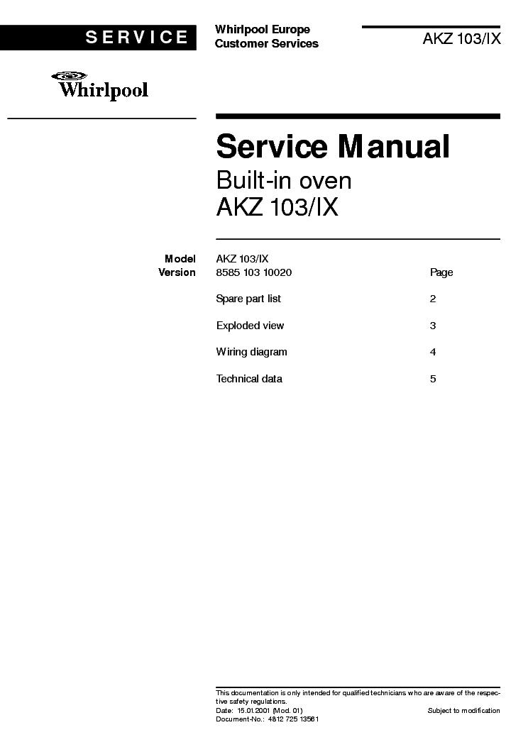 whirlpool akz 103 ix service manual download schematics eeprom rh elektrotanya com whirlpool fcsm6 manual Whirlpool Refrigerator Manual
