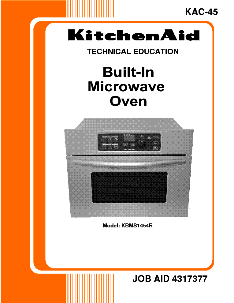 WHIRLPOOL KITCHENAID KAC-45 KBMS1454R service manual