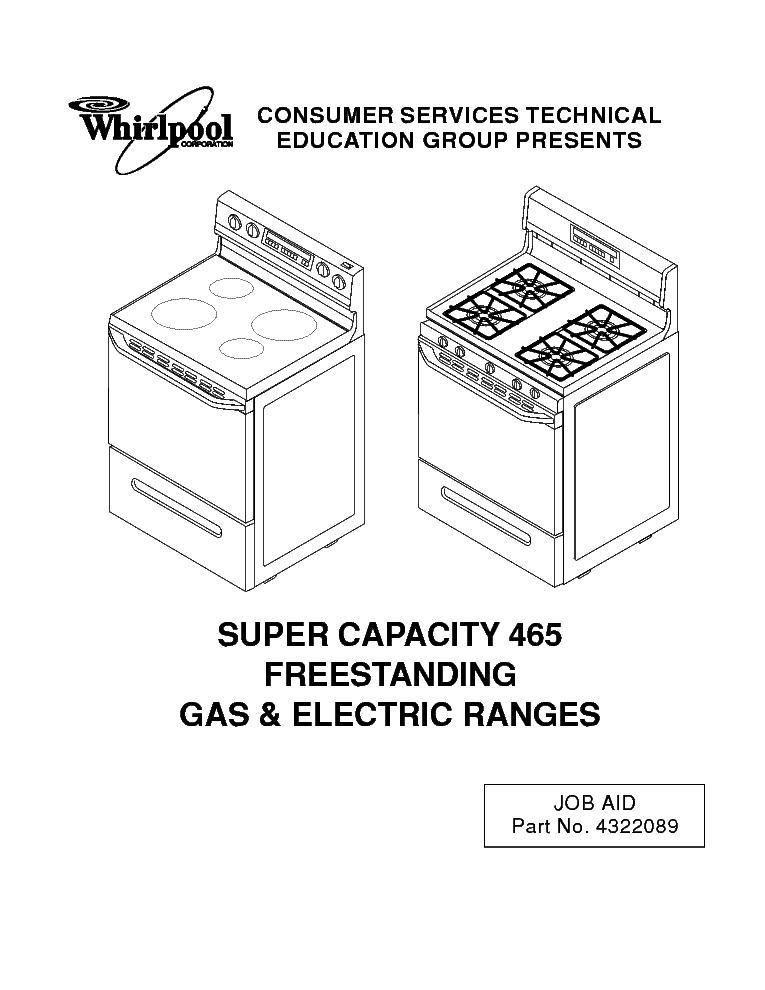 whirlpool kr 21 super capacity 465 service manual download rh elektrotanya com Whirlpool Oven Parts Used Whirlpool Electric Stove