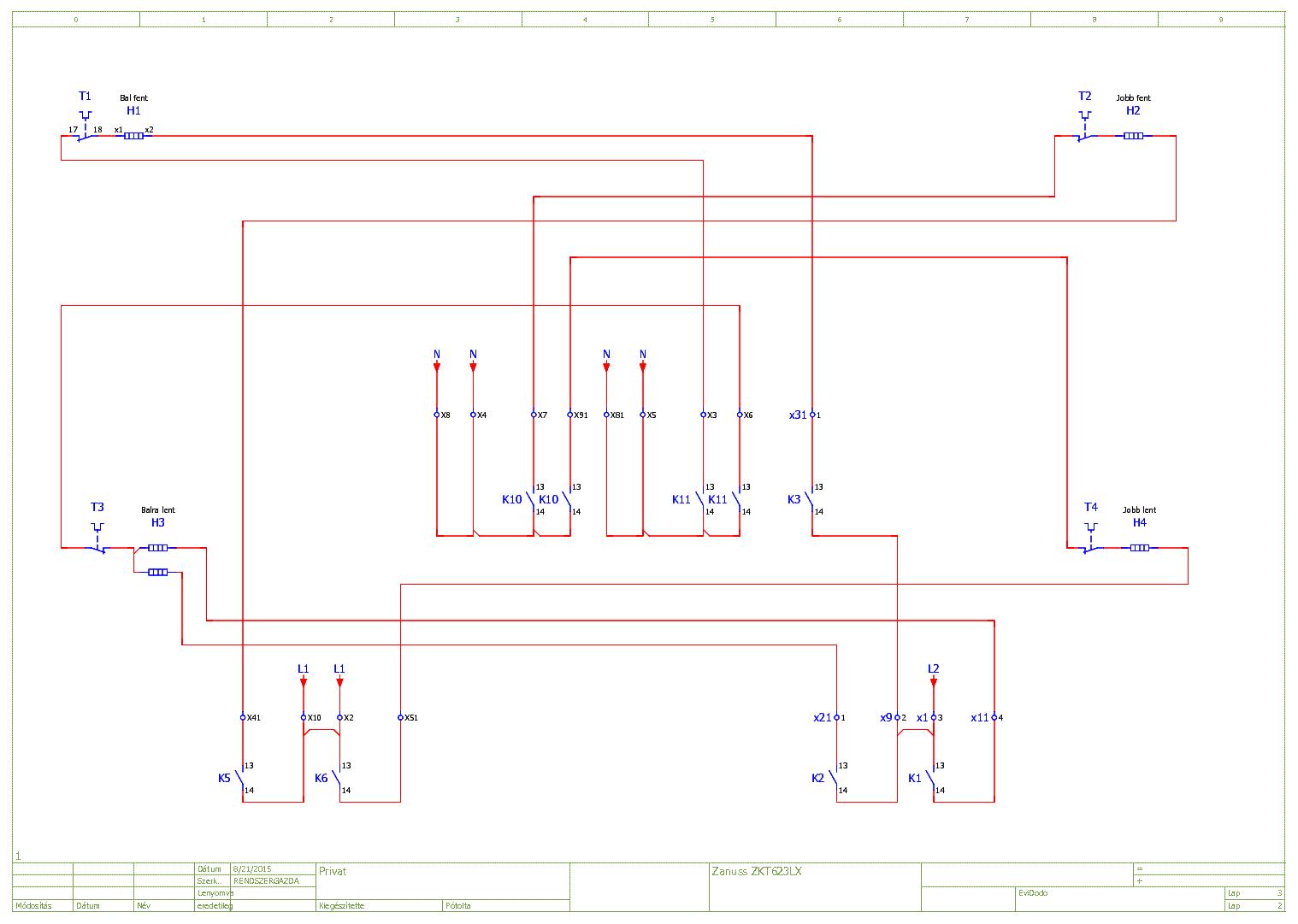 ZANUSSI ZKT623LX FOZOLAP service manual (1st page)