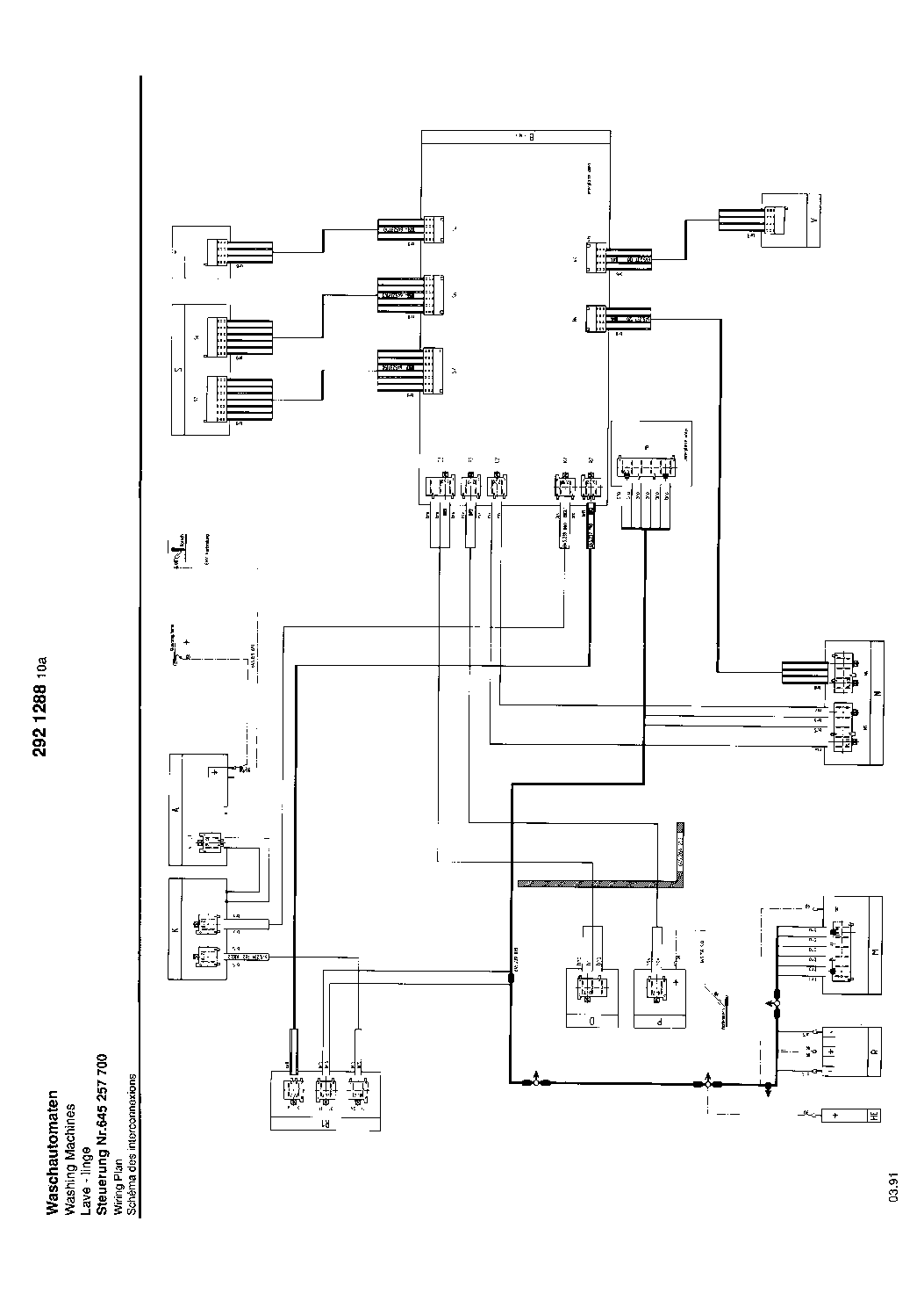AEG LAVAMAT 610 Service Manual download, schematics, eeprom ... on