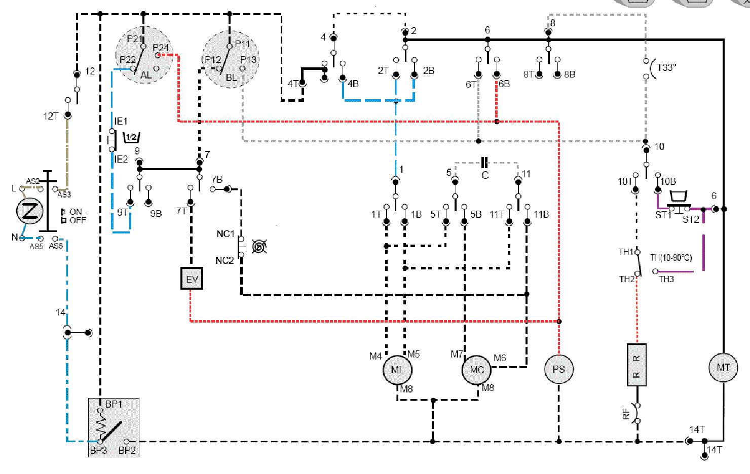 Схема управления двигателя стиральной машины автомата