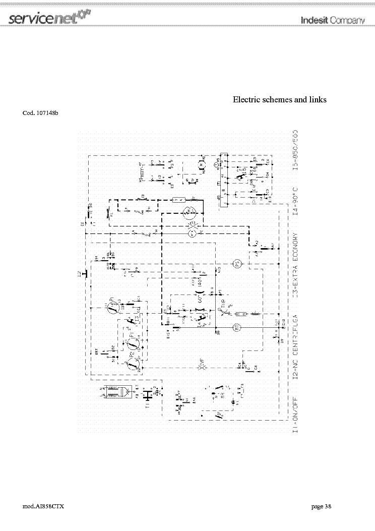 ARISTON AI858CTX SCH service manual (1st page)