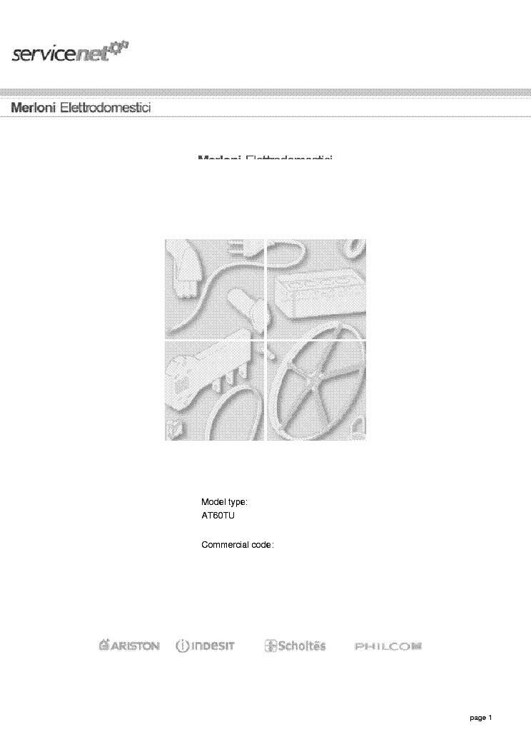 Fantastyczny ARISTON AT60TU Service Manual download, schematics, eeprom, repair XC14
