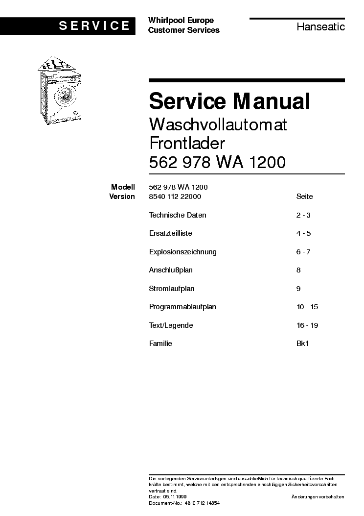 bauknecht wa 1200 service manual download schematics eeprom repair info for electronics experts. Black Bedroom Furniture Sets. Home Design Ideas
