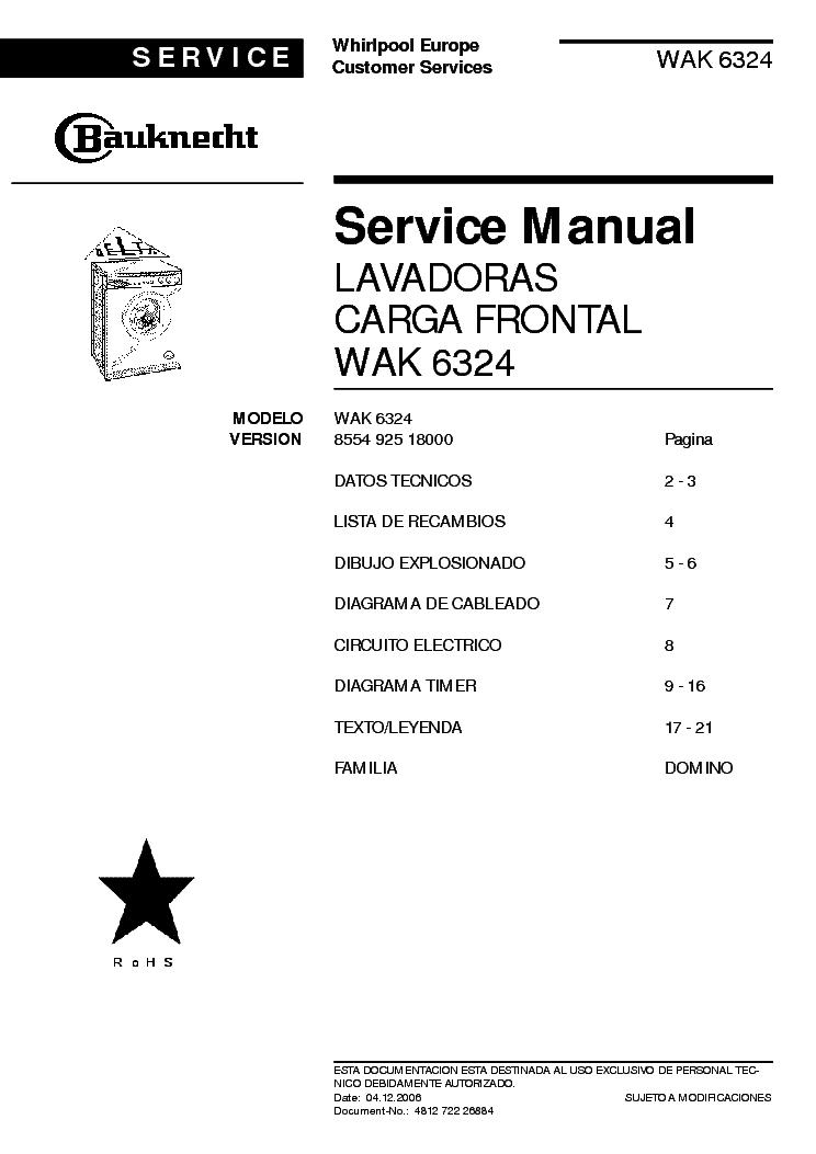 bauknecht wak 6324 service manual download schematics eeprom repair info for electronics experts. Black Bedroom Furniture Sets. Home Design Ideas