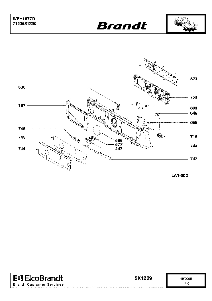 Brandt p4510-2 service manual download, schematics, eeprom, repair.