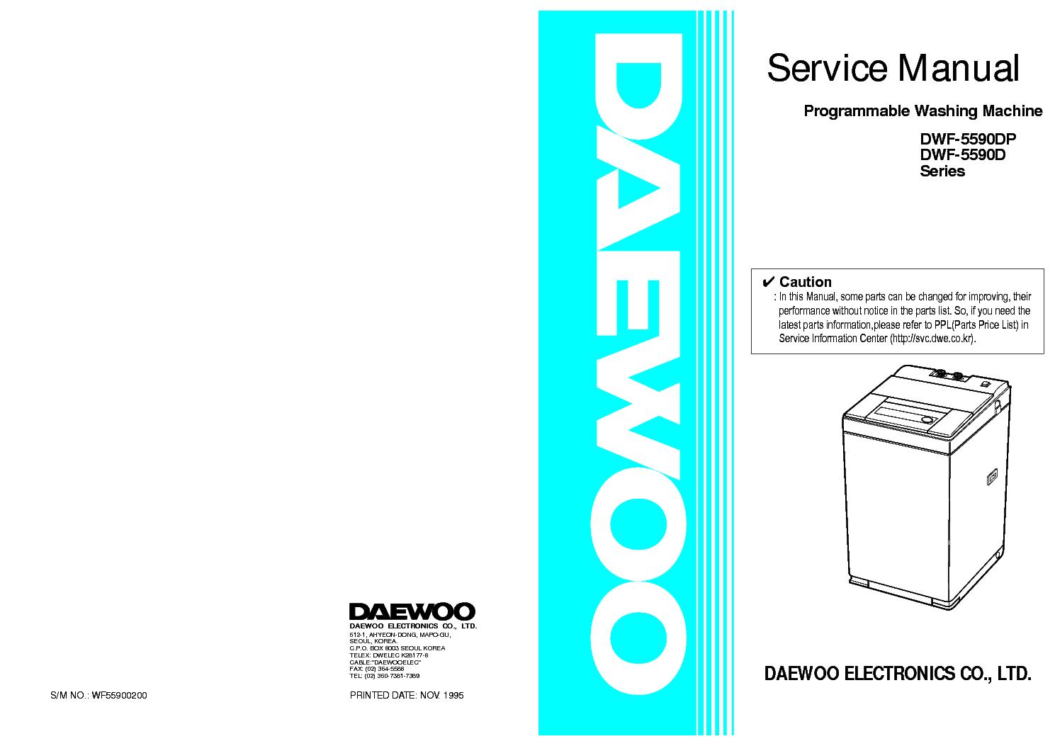 Daewoo dwf-5590dp инструкция