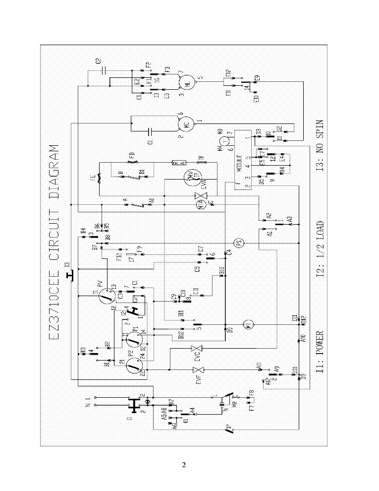 EQUATOR EZ3710CEE EZ1710 V 2006 LAUNDRY UNITS CIRCUIT DIAGRAMS V4