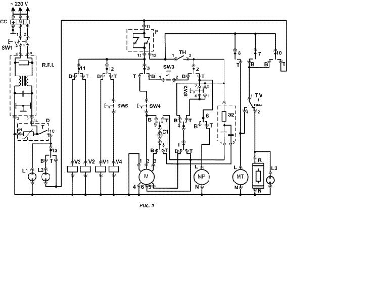 VESTA SMA-22 WASHING MACHINE Service Manual download, schematics