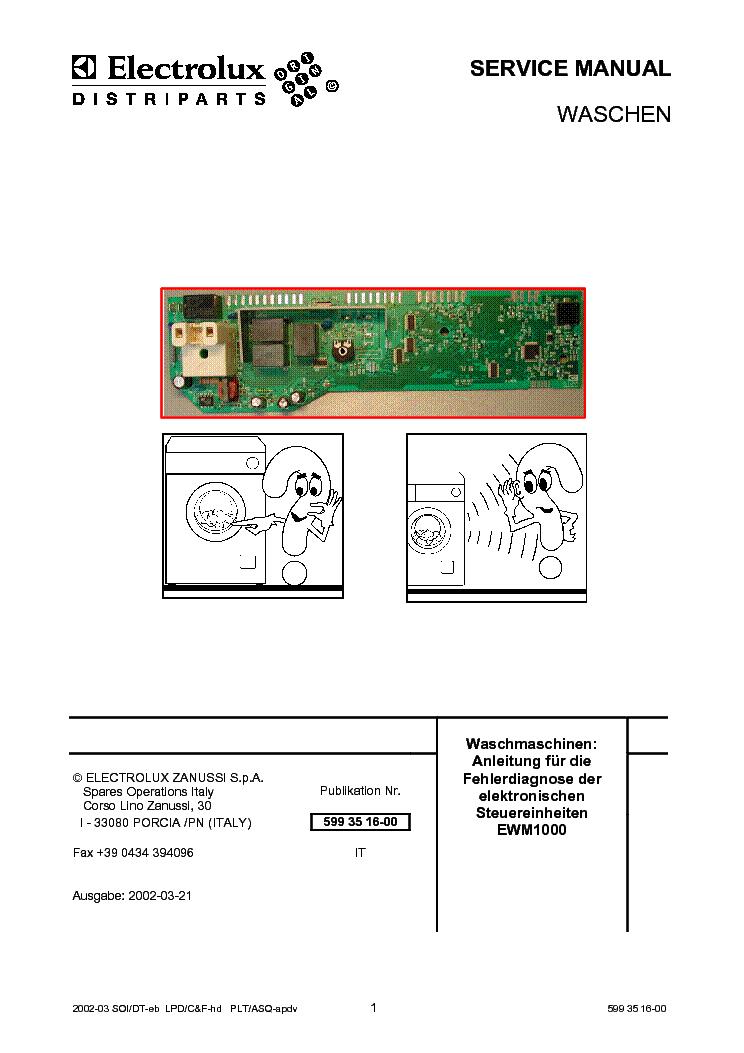 electrolux ewm1000 service manual download schematics eeprom rh elektrotanya com