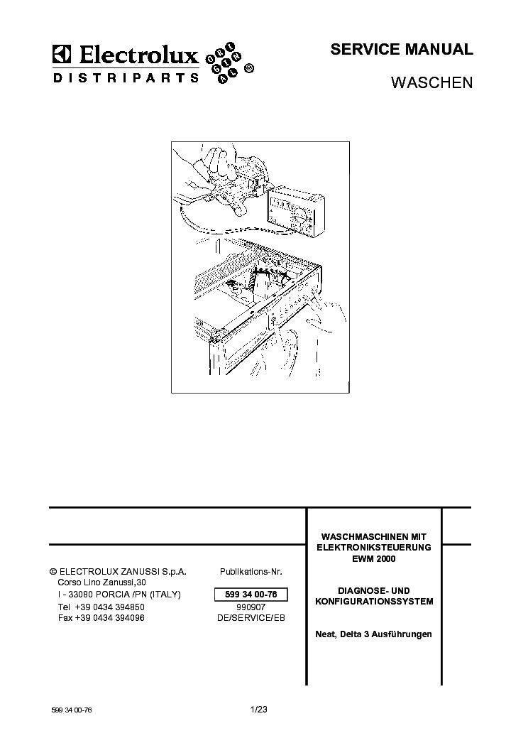 Electrolux ewm 2000 инструкция